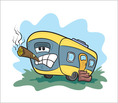 Trailer Smoke Illustration