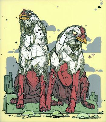Siamese Chicken Hounds by Nicholas Di Genova