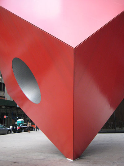 Red Cube Hole in NYC II