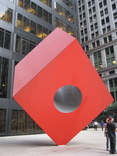 Red Cube Hole in NYC III